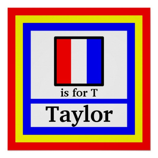 Nautical Flag is for T and Your Child's Name Print