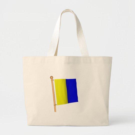 Nautical Flag 'K' Large Tote Bag
