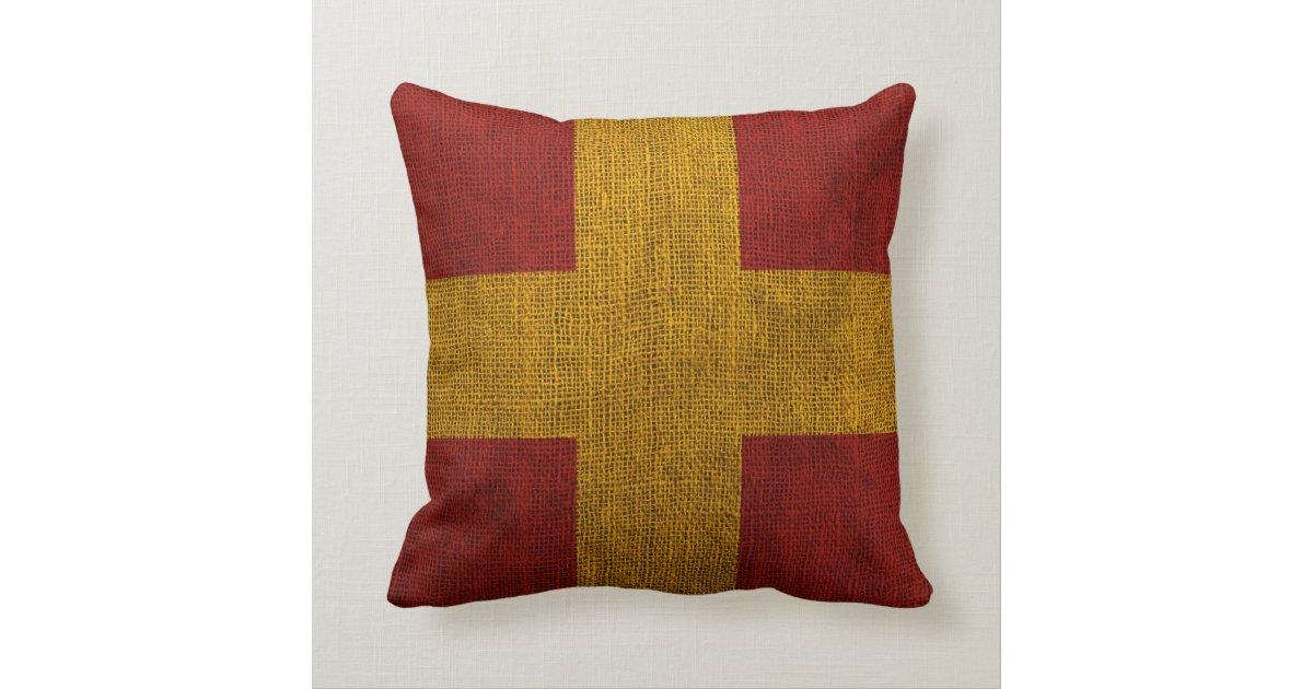 Nautical Flag Letter R Signal Throw Pillow