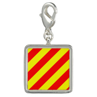 """Nautical Flag Letter Y """"Yankee"""" Charms"""