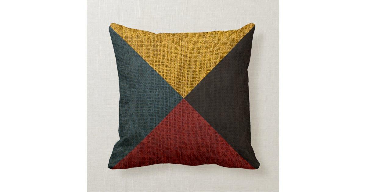 Nautical Flag Letter Z Signal Throw Pillow