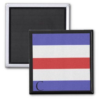 Nautical Flag Magnet Alphabet Letter C