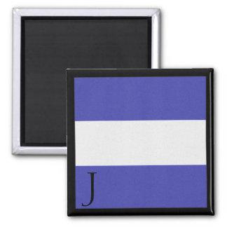 Nautical Flag Magnet Alphabet Letter J