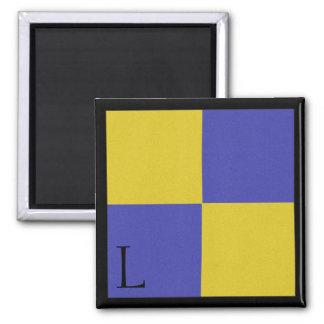 Nautical Flag Magnet Alphabet Letter L