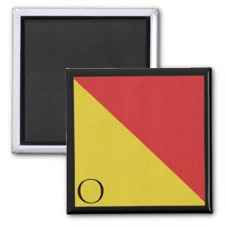 Nautical Flag Magnet Alphabet Letter O