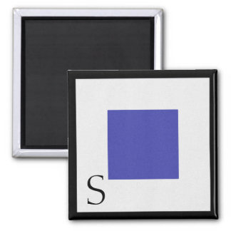 Nautical Flag Magnet Alphabet Letter S