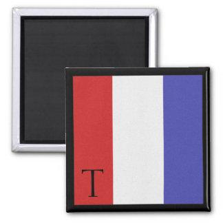 Nautical Flag Magnet Alphabet Letter T