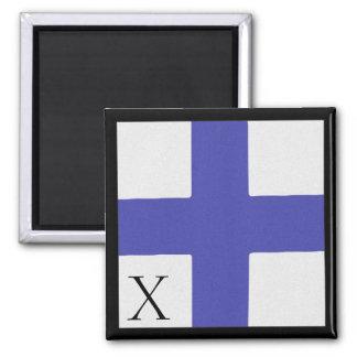 Nautical Flag Magnet Alphabet Letter X