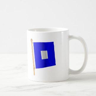 Nautical Flag 'P' Coffee Mug