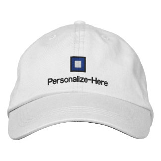 """Nautical Flag """"P"""" Personalized Boater's Hat Embroi"""