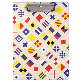 Nautical Flag Pattern Clipboard