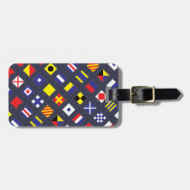 Nautical Flag Pattern Luggage Tag