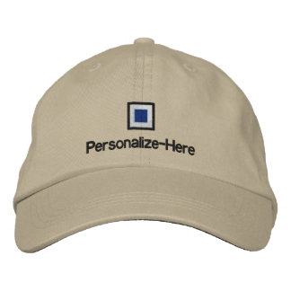"""Nautical Flag """"S"""" Personalized Boater's Hat"""