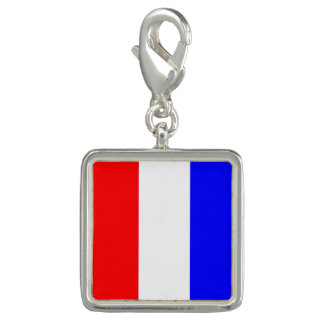 """Nautical Flag Sign Code Letter T """"Tango"""" Charms"""