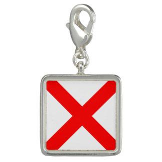 "Nautical Flag Sign Code Letter V ""Victor"" Charm"