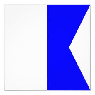 Nautical Flag Signal Alpha Letter A Card