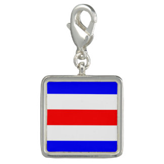 "Nautical Flag Signal Code Letter C ""Charlie"" Charm"