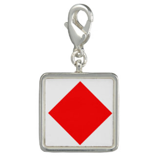 "Nautical Flag Signal Code Letter F ""Foxtrot"" Charm"