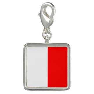 """Nautical Flag Signal Code Letter H """"Hotel"""" Charms"""