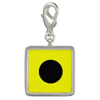 "Nautical Flag Signal Code Letter I ""India"" Charm"