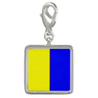 "Nautical Flag Signal Code Letter K ""Kilo"" Charm"