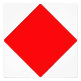 Nautical Flag Signal Foxtrot Letter F Card