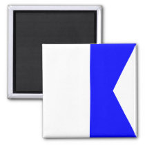 Nautical Flag Signal Letter A (Alfa) Magnet