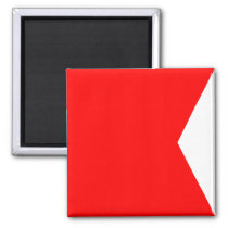 Nautical Flag Signal Letter B (Bravo) Magnet