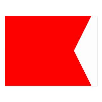 Nautical Flag Signal Letter B (Bravo) Postcard