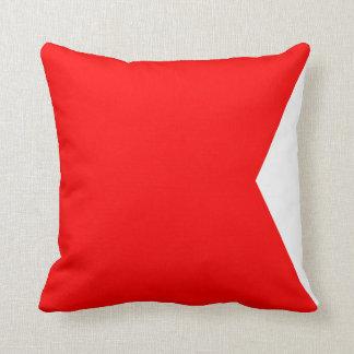 Nautical Flag Signal Letter B Throw Pillow