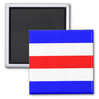 Nautical Flag Signal Letter C (Charlie) 2 Inch Square Magnet