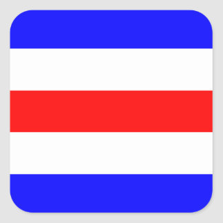 Nautical Flag Signal Letter C (Charlie) Square Sticker