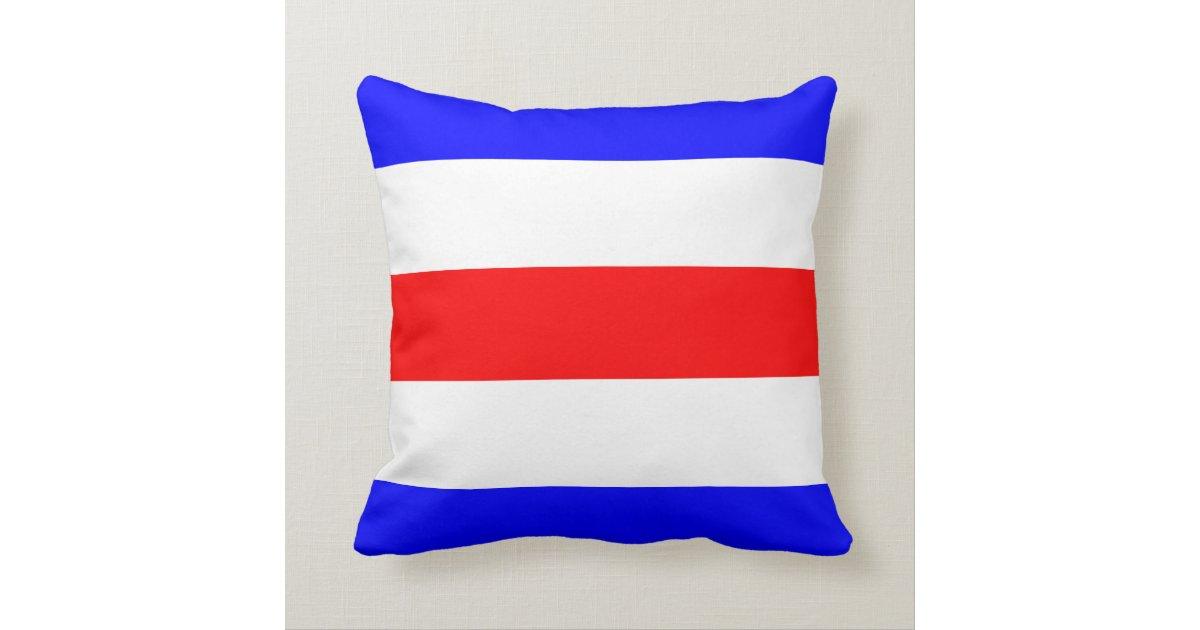 Nautical Flag Signal Letter C Throw Pillow