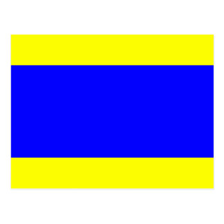 Nautical Flag Signal Letter D (Delta) Post Cards