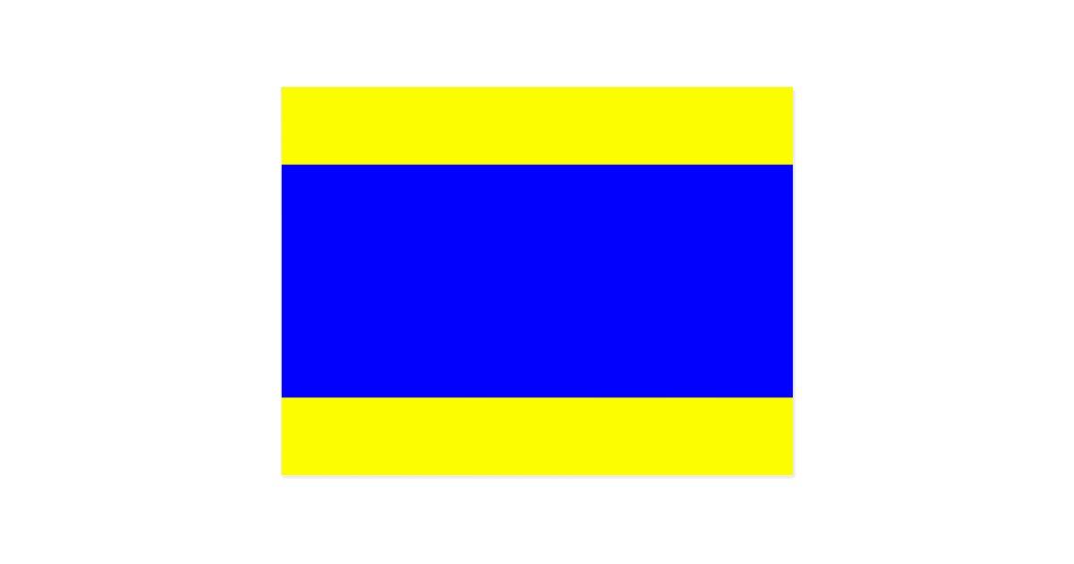 Nautical Flag Signal Letter D Delta Postcard