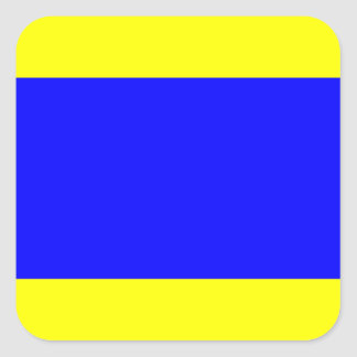 Nautical Flag Signal Letter D (Delta) Square Sticker