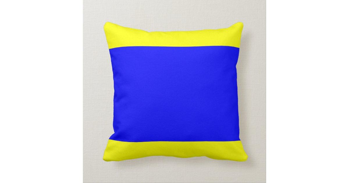 Nautical Flag Signal Letter D Delta Throw Pillow