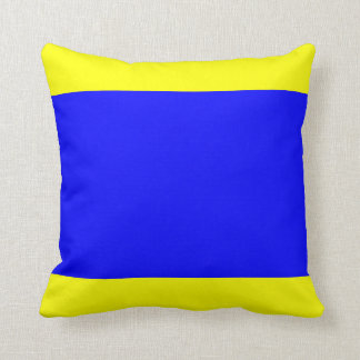 Nautical Flag Signal Letter D (Delta) Throw Pillow