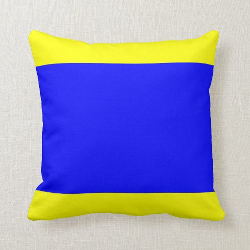 Letter E Throw Pillow : Nautical Flag Signal Letter D (Delta) Throw Pillows Zazzle