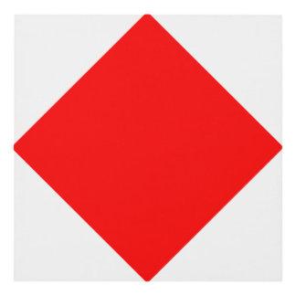 Nautical Flag Signal Letter F (Foxtrot) Panel Wall Art