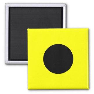 Nautical Flag Signal Letter I (India) 2 Inch Square Magnet