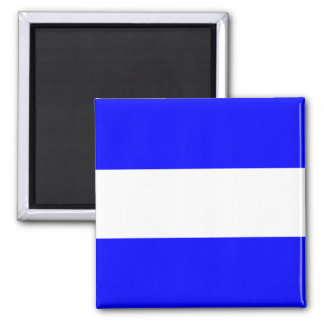 Nautical Flag Signal Letter J (Juliett) 2 Inch Square Magnet