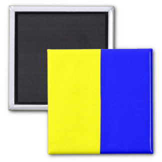 Nautical Flag Signal Letter K (Kilo) 2 Inch Square Magnet