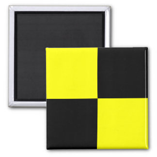 Nautical Flag Signal Letter L (Lima) 2 Inch Square Magnet