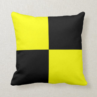 Nautical Flag Signal Letter L Throw Pillow