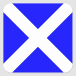 Nautical Flag Signal Letter M (Mike) Square Sticker