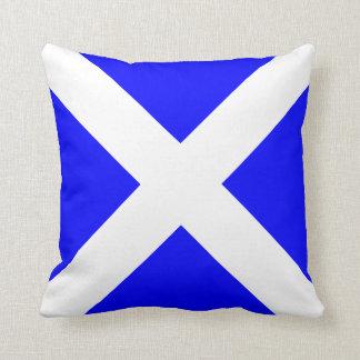 Nautical Flag Signal Letter M Throw Pillow