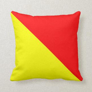 Nautical Flag Signal Letter O Oscar Throw Pillow