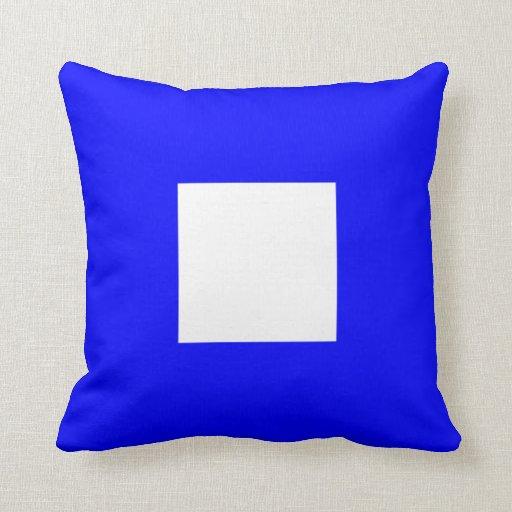 Letter P Throw Pillow : Nautical Flag Signal Letter P Papa Throw Pillow Zazzle