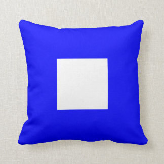 Nautical Flag Signal Letter P Papa Throw Pillow